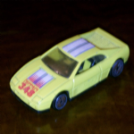 Hot Wheels Ferrari 348 yellow white blue stripes 1990 stamped  diecast model @sold@